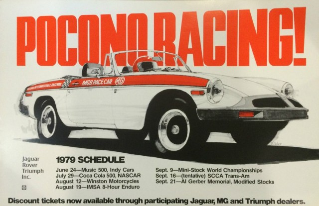 Pocono Raceway Pace Car - MG MGB 1979
