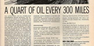 Lotus Elite - A quart of oil every 300 miles