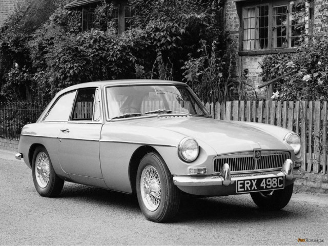 1965 MGB GT promotional photo