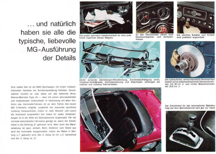1967 MG MGC Brochure German page 6