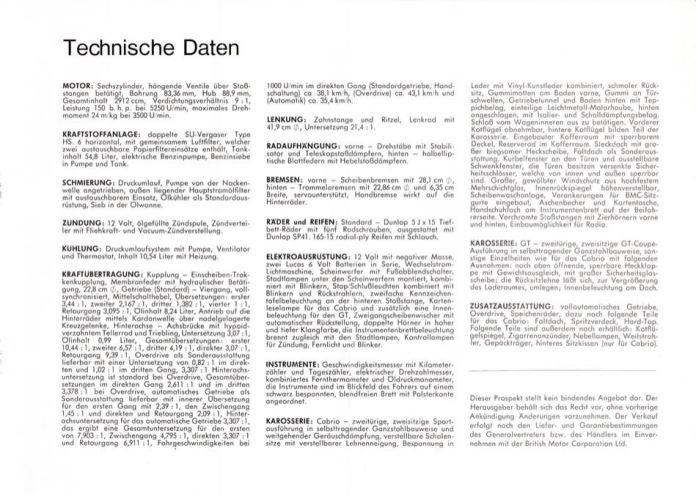1967 MG MGC Brochure German page 7