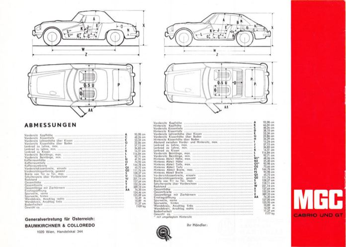 1967 MG MGC Brochure German page 8