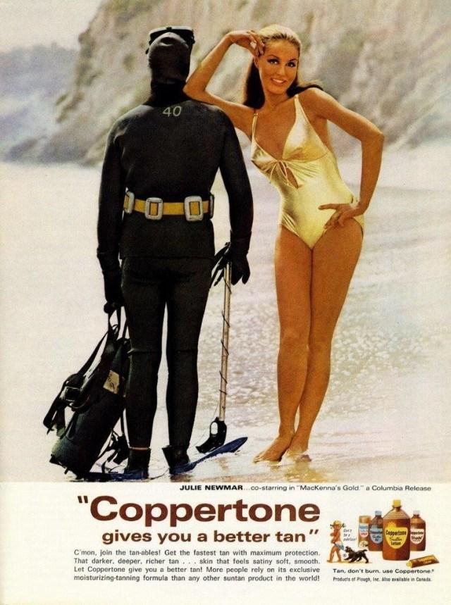 1968 Coppertone Suntan scuba ad