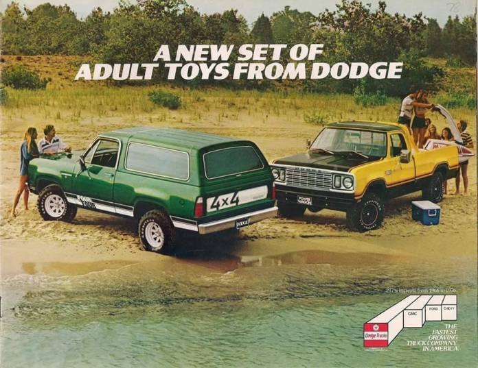 A new set of adult toys Dodge Trucks
