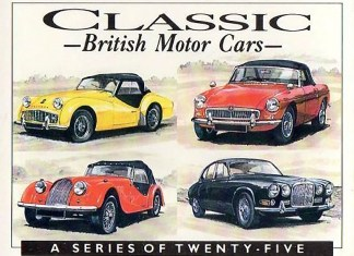 Classic British Motor Cars card set