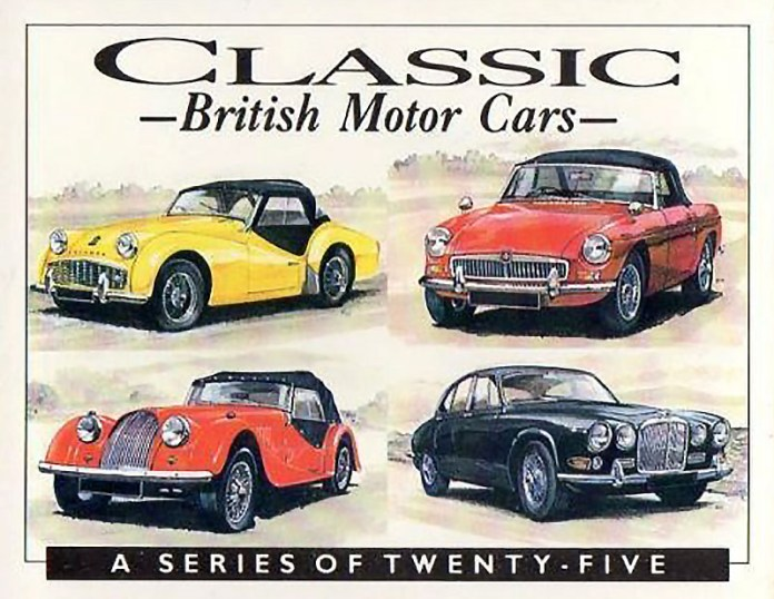 Classic British Motor Cars card set