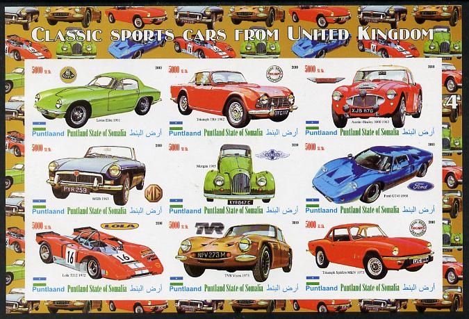 Puntland State of Somalia 2010 Classic Sports Cars from United Kingdom