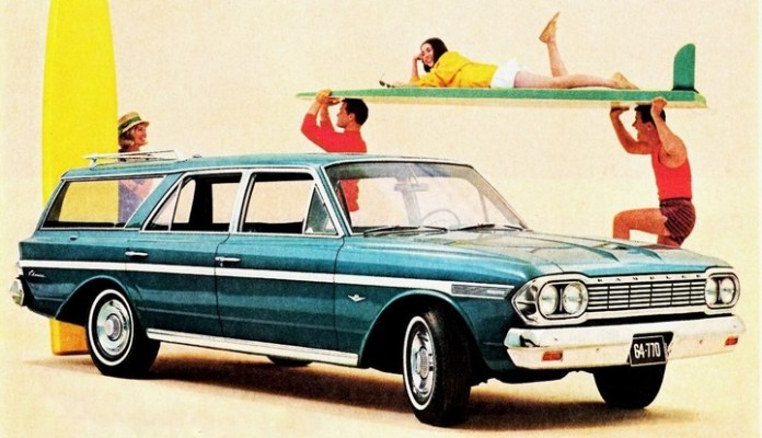 Rambler surfboard car ad