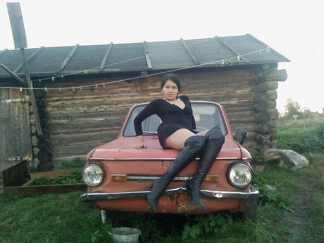 Russian car Pin Up girl