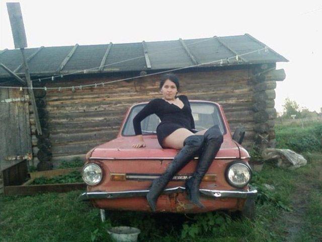 Russian car Pin Up girl