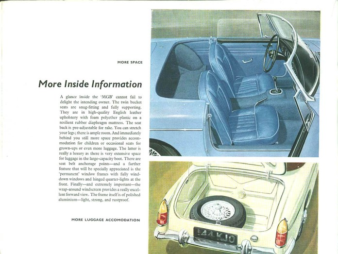 MG MGB Roadster 1962 brochure - More inside information