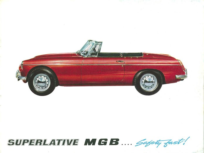 MG MGB Roadster 1962 brochure Safety Fast!