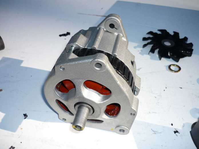 AC Delco alternator with mounting plate rotated 120 degrees