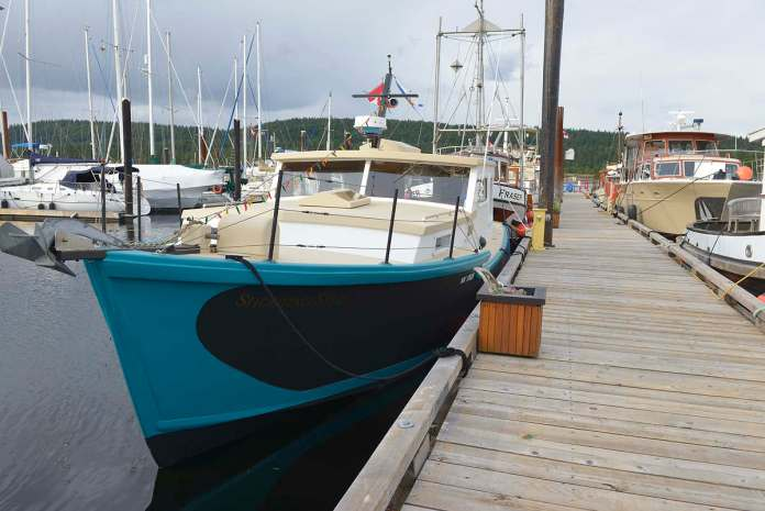 Shooting Star,, our 1956 Cape Sable, Nova Scotia lobster boat converted into a pleasure craft