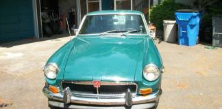 Teal MGB GT, or is it BRG?