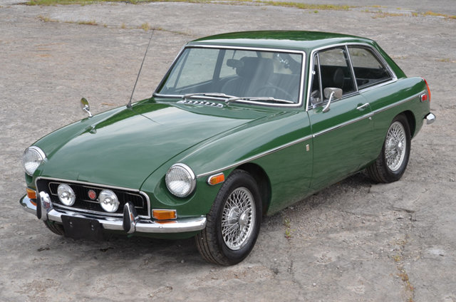 1970 MGB GT in British Racing Green