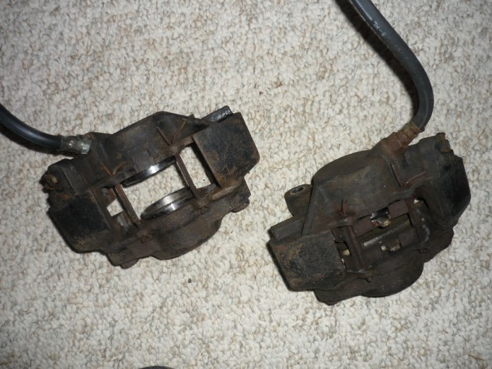 MGB GT front brake calipers