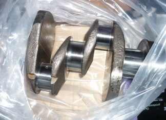 Reground MGB crankshaft, better than new at .020