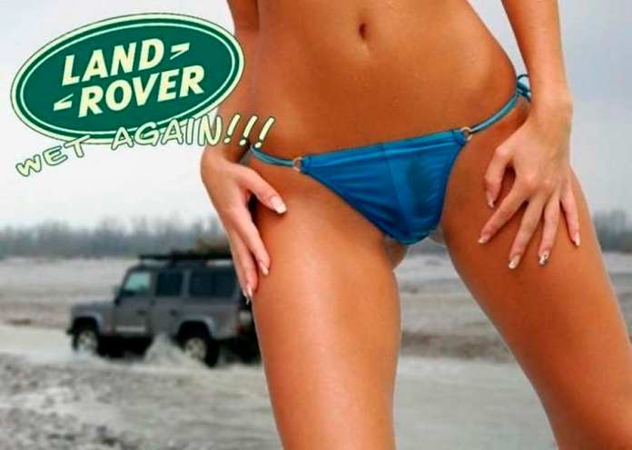 Land Rover wet again ad, where's the car?