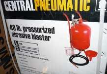 Harbor Freight Pressurized Abrasive Blaster