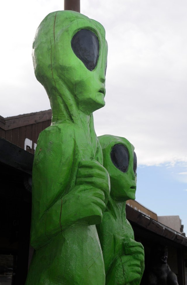 Green aliens in New Mexico