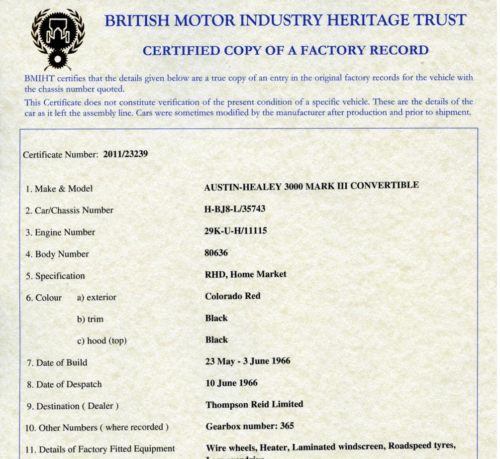 Mg Resource Directory 1967 Mgb Gt