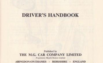 1967 MGB Driver's Handbook