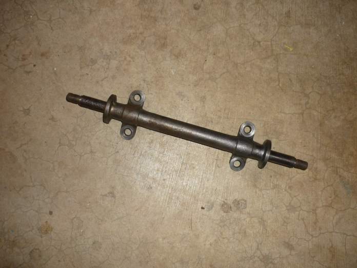 MGB lower wishbone pivot, the bushing shaft on the left is badly pitted