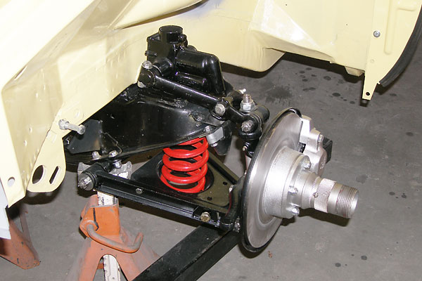Painted MGB front suspension