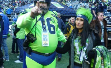 Seattle Seahawks super fan