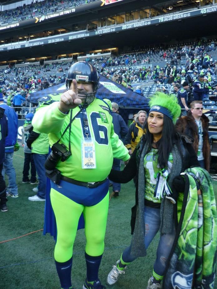 Seattle Seahawks super fan