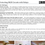 Protecting MG circuits with relays