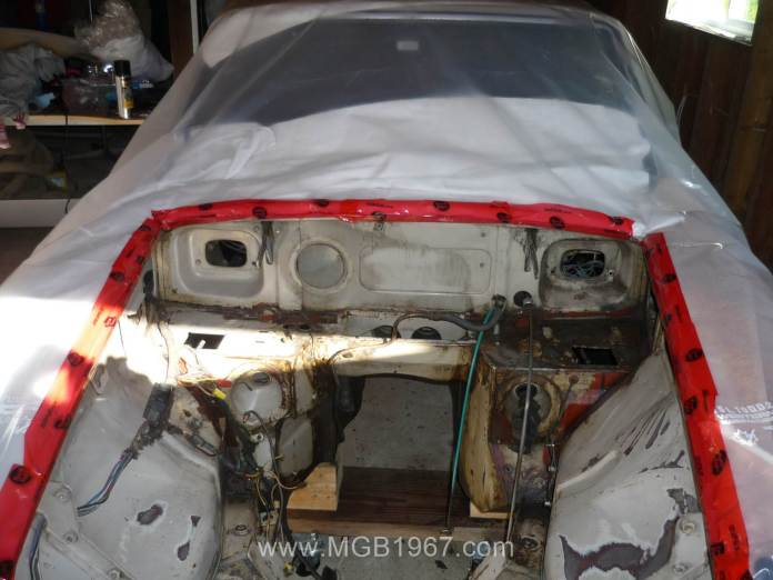 Plastic protection the MGB GT