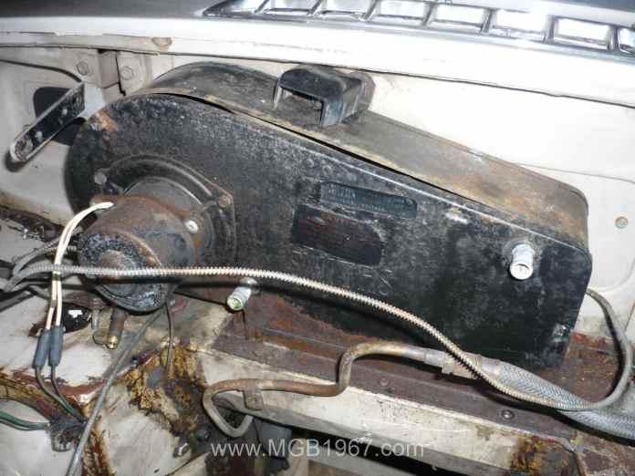 Rusty MGB heater box