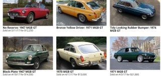 Sold MGB GT's on Bring A Trailer