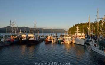 Work boats in Cowichan Bay