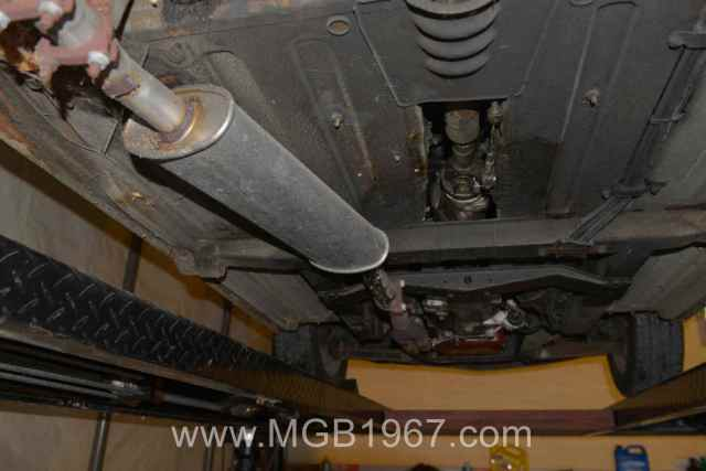 MGB undercarriage before cleaning
