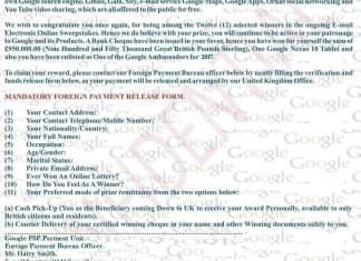 Google Award Letter