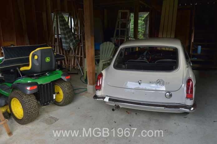 My John Deere lawn tractor is almost as big as my MGB GT