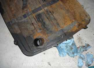 MGB fuel tank rust