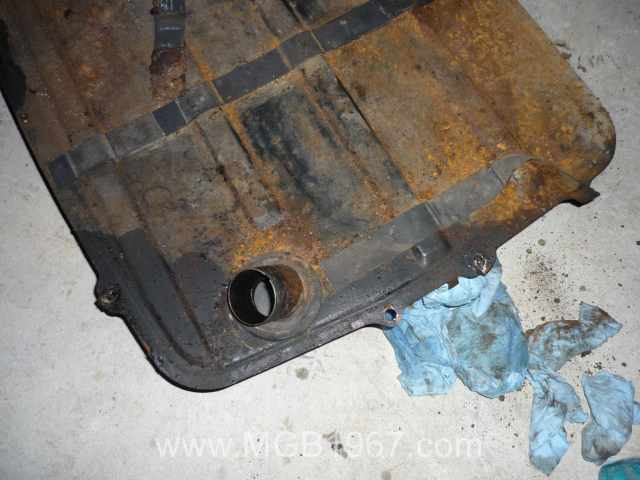 MGB fuel tank rust