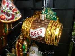 Beer keg Christmas ornament