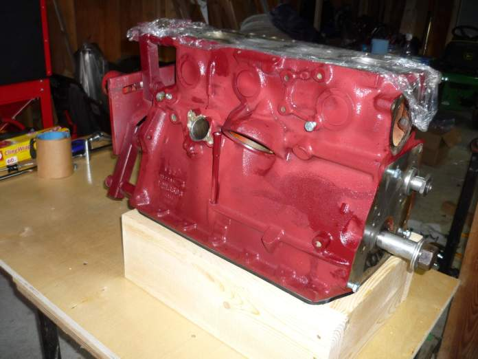 MGB engine in the new cradle