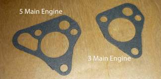 MGB engine oil pump gaskets