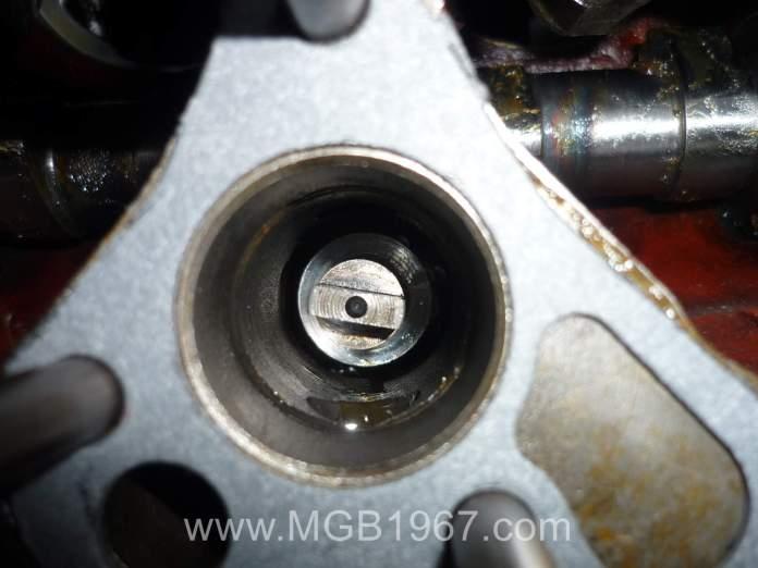 MGB oil pump drive gear installed