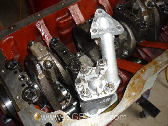 MGB oil pump installed without filter