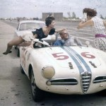 Alfa Romeo driver getting distracted by women