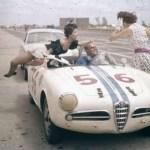Alfa Romeo driver getting distracted