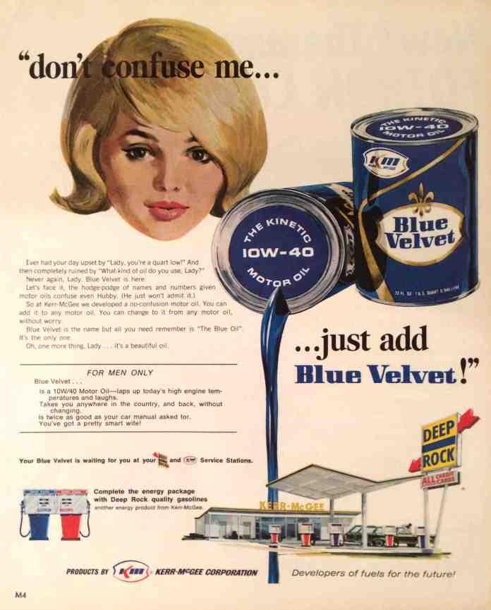 Blue Velvet Motor Oil