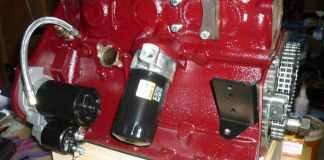 Freshly painted MGB GT engine